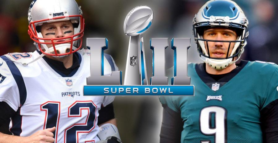 Quarterbacks Tom Brady (left) and Nick Foles (right) square off this Sunday for Super Bowl 52.