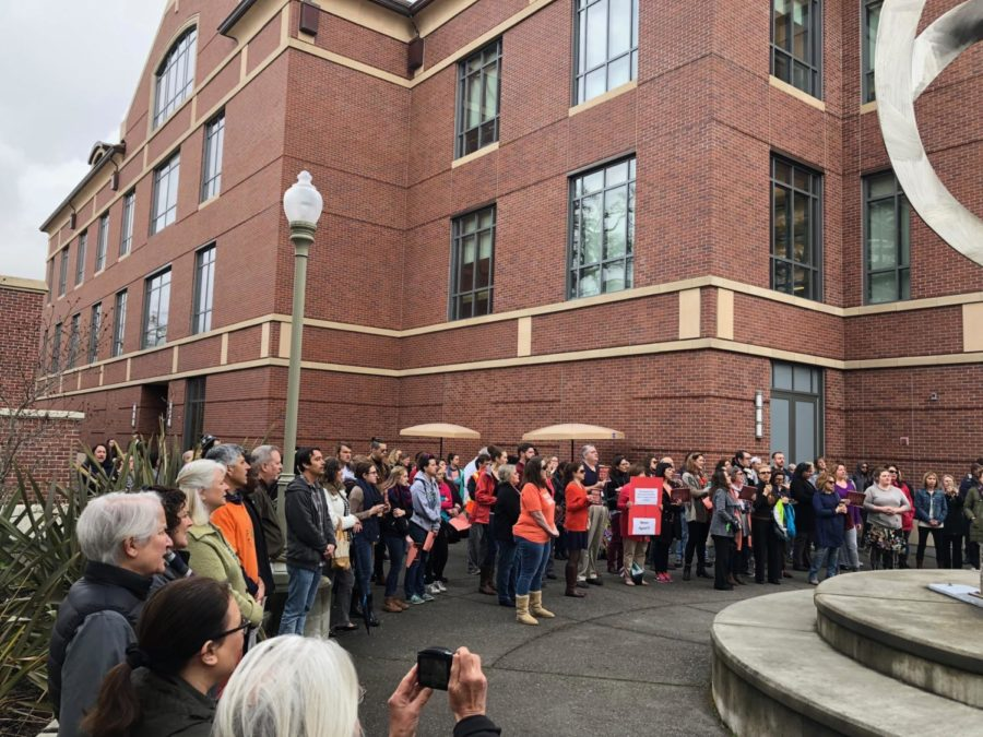 SRJC community walkout over gun violence