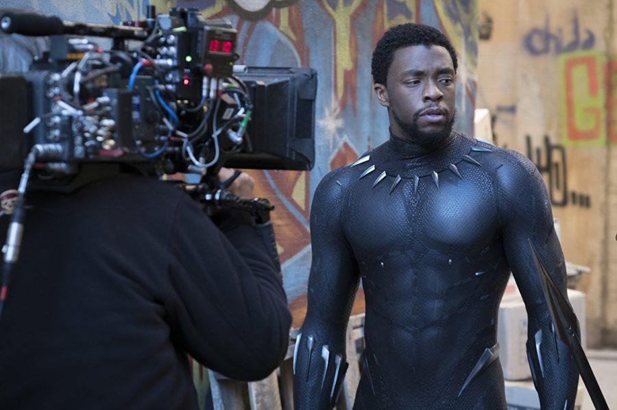 Chadwick Boseman in the Black Panther.
