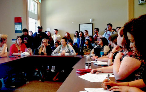 More than 30 students crammed into the Santa Rosa Junior College Senate Chambers to voice their concerns to SRJC President Frank Chong over the administration's now-scrapped plans to effectively cancel summer term. The Student Government Assembly (SGA) hosted the forum.