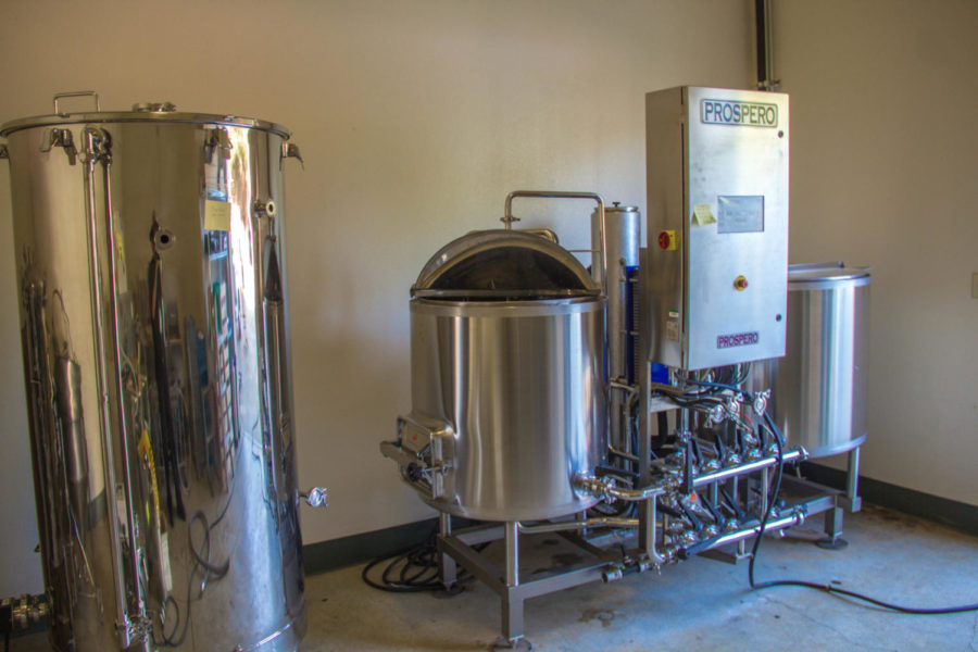 A small commercial brewing system at Shone Farm.