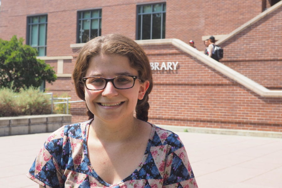 """Business administration major, Jodi Pasquini, 20, said, """"It is nice to be back on campus, to check out usual spots to hang out."""""""