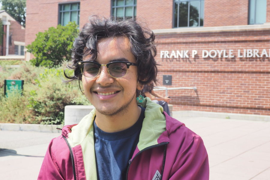 """Biochemistry major, Milton contreras, 19, said, """"I'm excited, confident and more ready for this school year."""""""