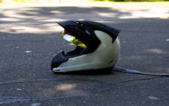 Motorcyclist hospitalized after sideswipe accident