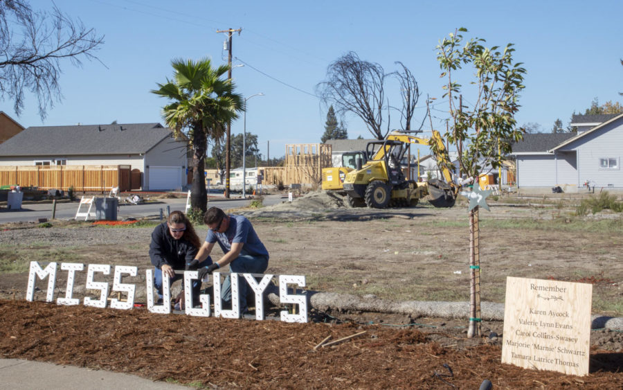 A memoriam was erected to honor the Coffey Park residents who died during the Tubbs Fire last year.