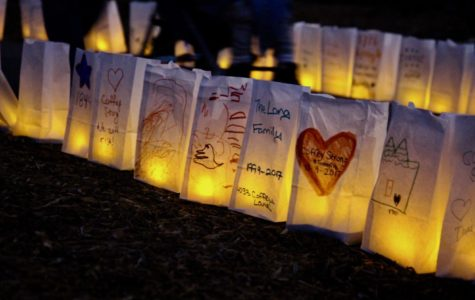 Community decorated flameless luminaries lined the pathway.