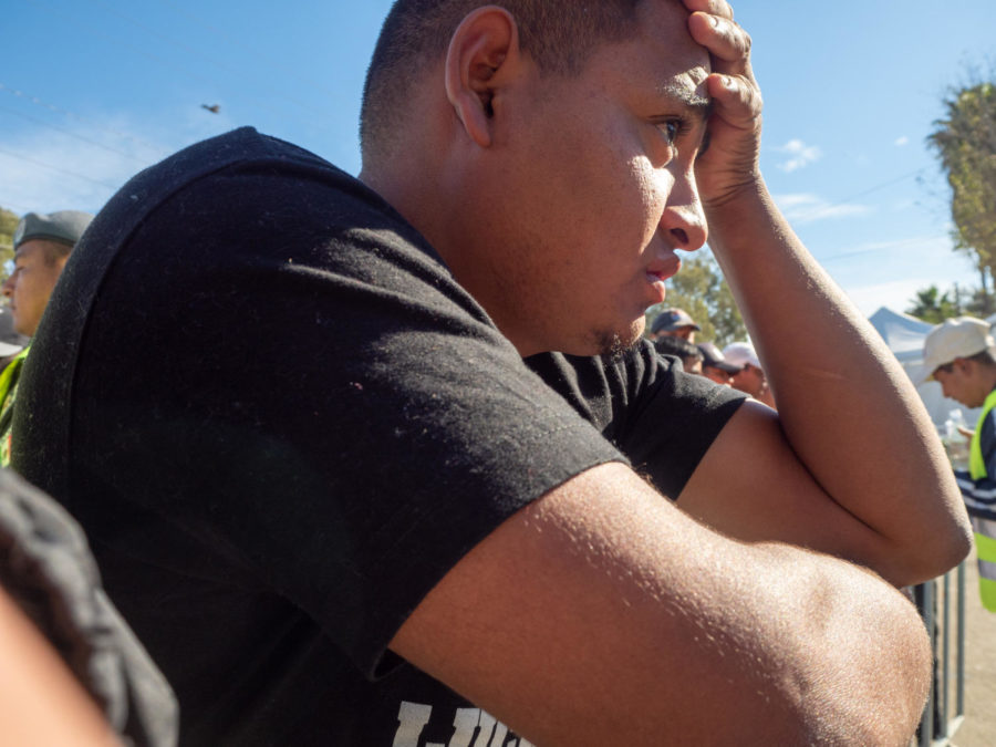 A sense of despair overwhelms a migrant when volunteers run our of food and water.