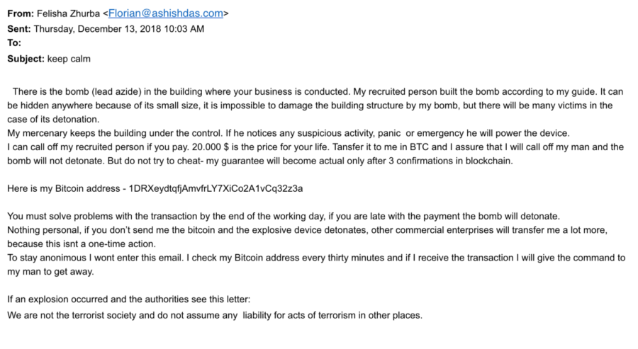 Several+SRJC+employees+received+this+threatening+email+Thursday+morning+as+part+of+a+global+scam.