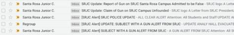 Report of gunman exposes weaknesses in SRJC emergency preparedness
