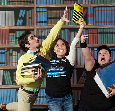 SRJC theatre arts students Jasmine Flores-Nunez, Christopher Shayota, and Alexx Valdez star in director Reed Martin's