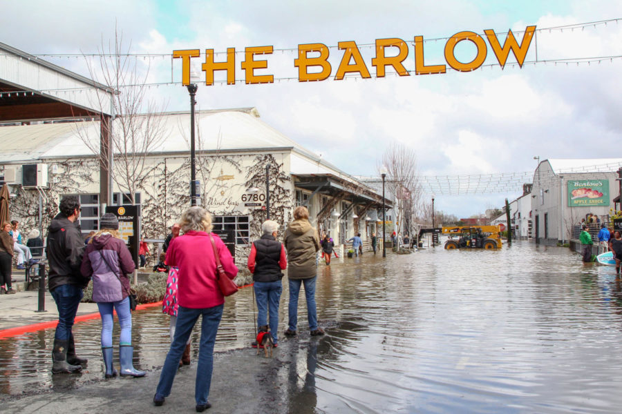 Sebastopol+residents+gather+downtown+and+take+pictures+of+the+Barlow+after+historic+floods+invaded+the+downtown+gem+on+Feb+27.