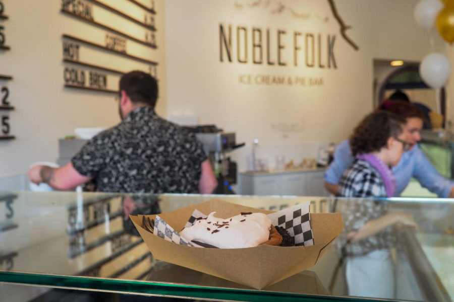 Noble Folk opened a new location in downtown Santa Rosa, serving  ice cream and pie.
