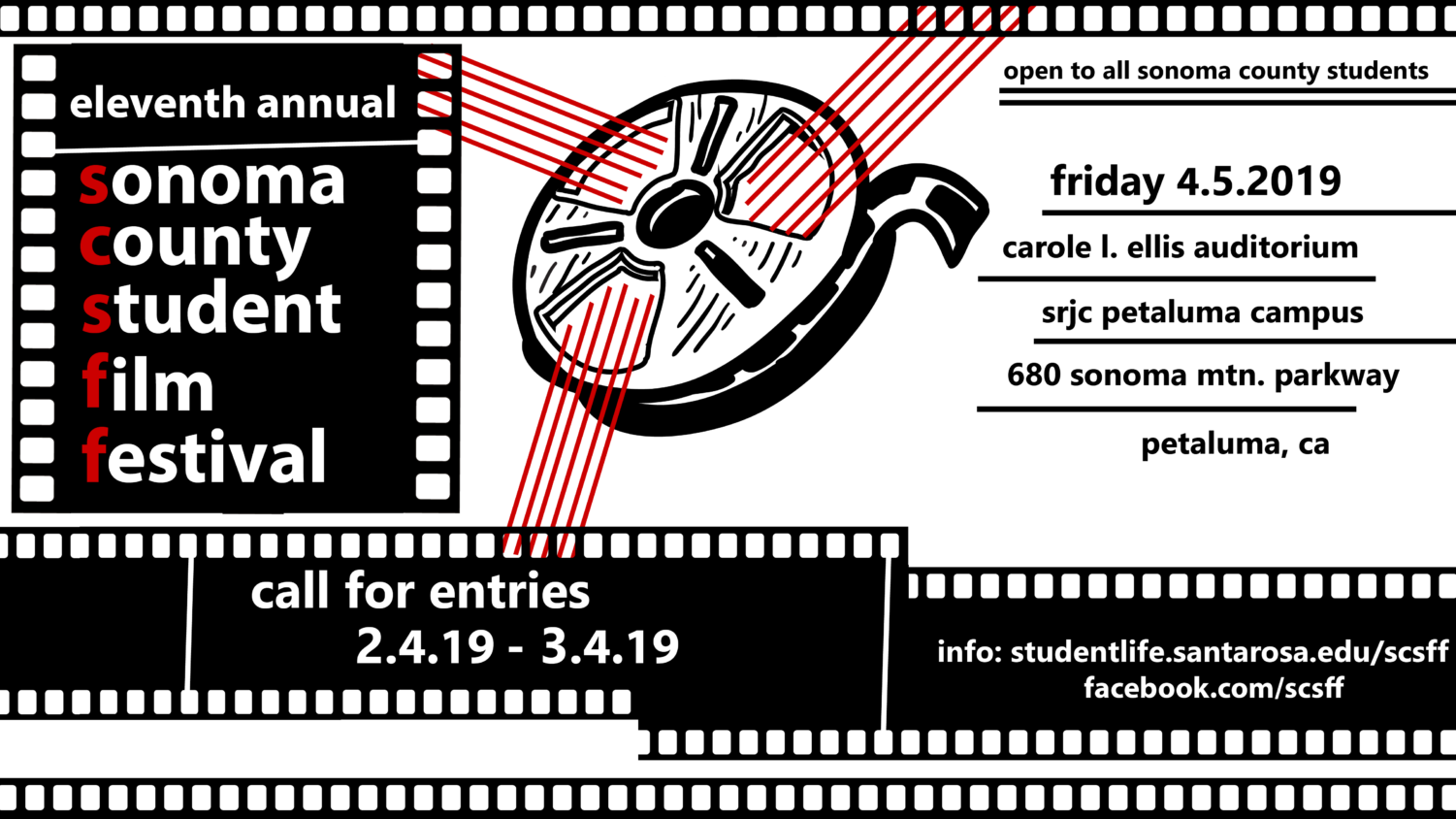 Any Sonoma County student is welcome to submit an entry to the 11th Annual Sonoma County Student Film Festival.