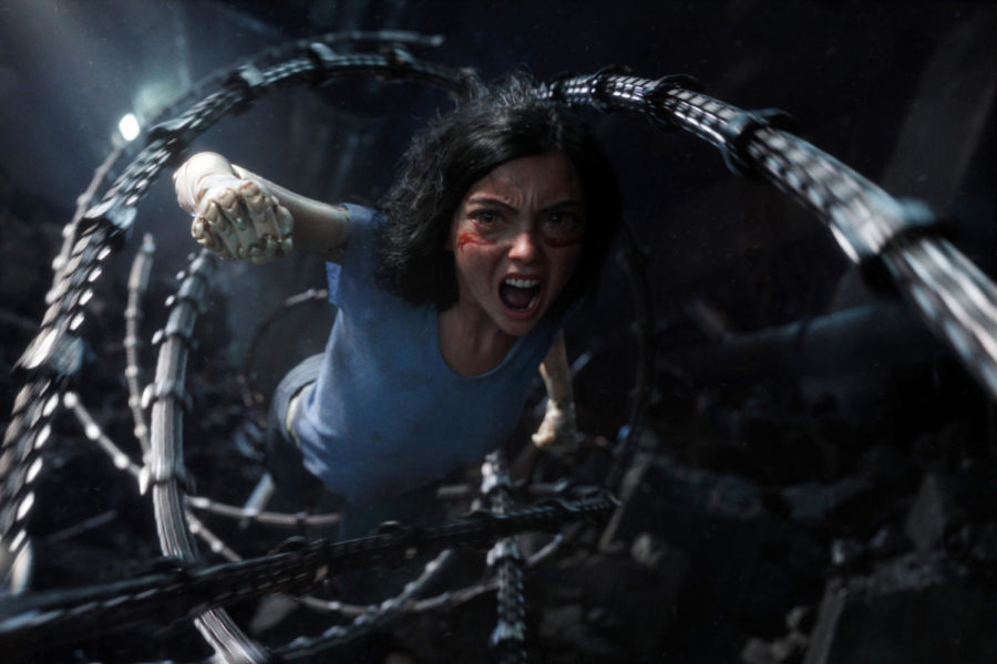 Alita+%28Rosie+Salazar%29+diving+into+action+in+%22Alita%3A+Battle+Angel.%22