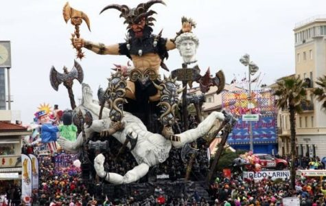 Carnival float in Viagreggio that takes place end of January through the beginning of March, a possible field trip opportunity for Florence Study Abroad 2020.