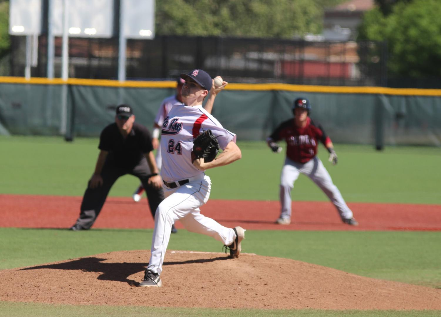 Santa Rosa Junior College starting pitcher Shane O'Malley had a 3.36 ERA and a 5-3 record entering Thursday's game.