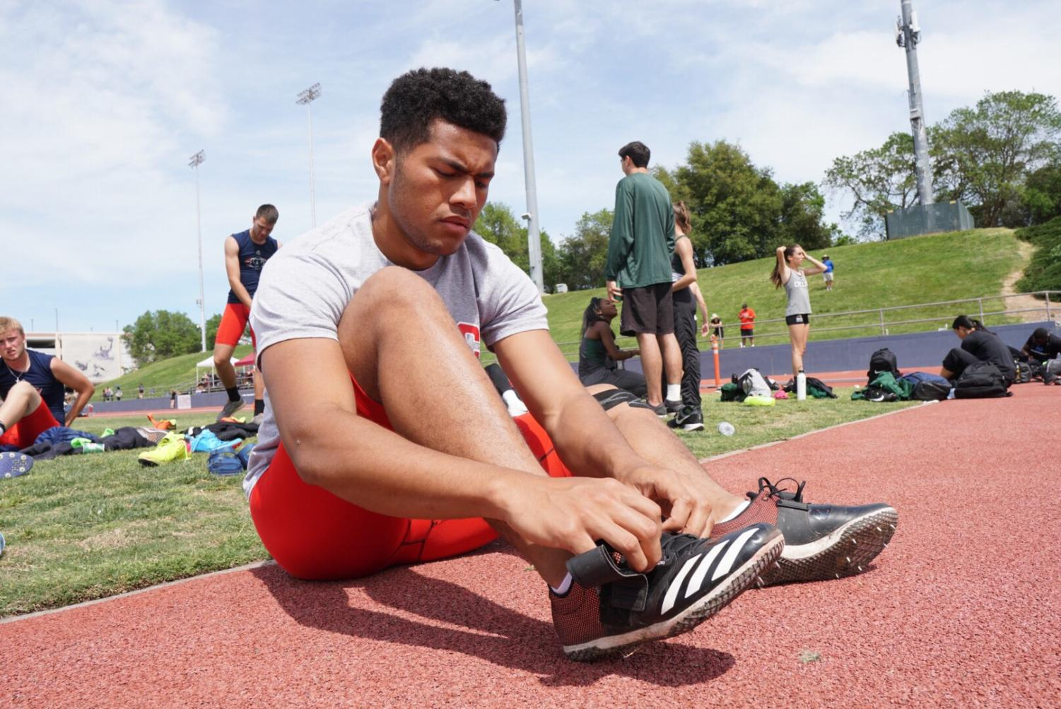 SRJC freshman high-jumper Waisea Jikoiono set the top mark in California with a 6-foot-7.5 inch jump early in March 2019.