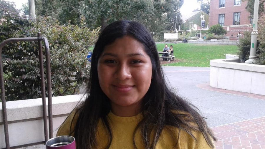 """I think climate change is our responsibility, and we have to do something about it. It's bad you know - it's definitely a situation we need to educate ourselves more on and take action about it."""" Zaira Enriquez, 22."""