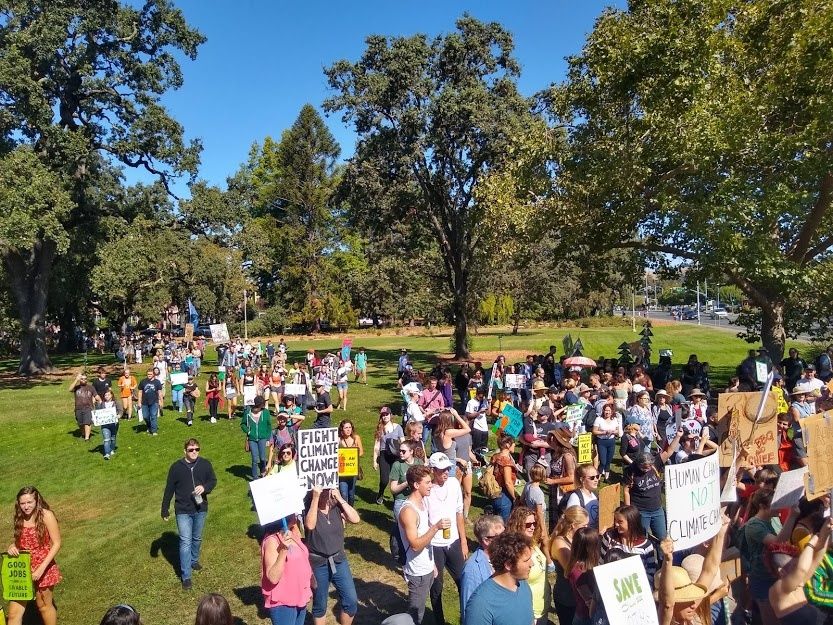On Friday over 2000 students and community members marched to advocate for climate change, and many expressed their motivation to take action resulted from the effects climate change have had on their mental health.