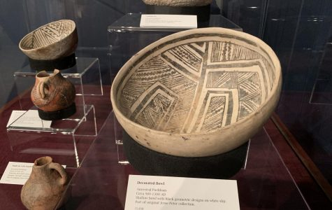 Ancient Puebloan pottery on display inside the Jesse Peter Multicultural Museum on SRJC campus.