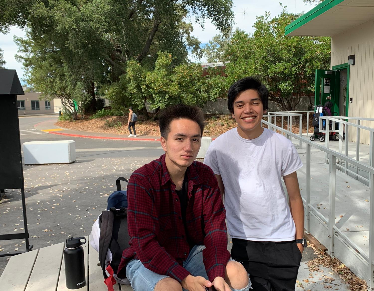 Though SRJC students Azulito Bernal, 19, and Aurelio Aguilar, 20, appreciate the day off of classes, they are critical of PG&E for the lack of warning and details surrounding the impending power outage.