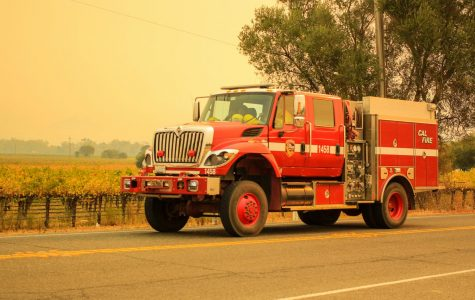 Cal Fire responds to Kincade fire in Geyserville.