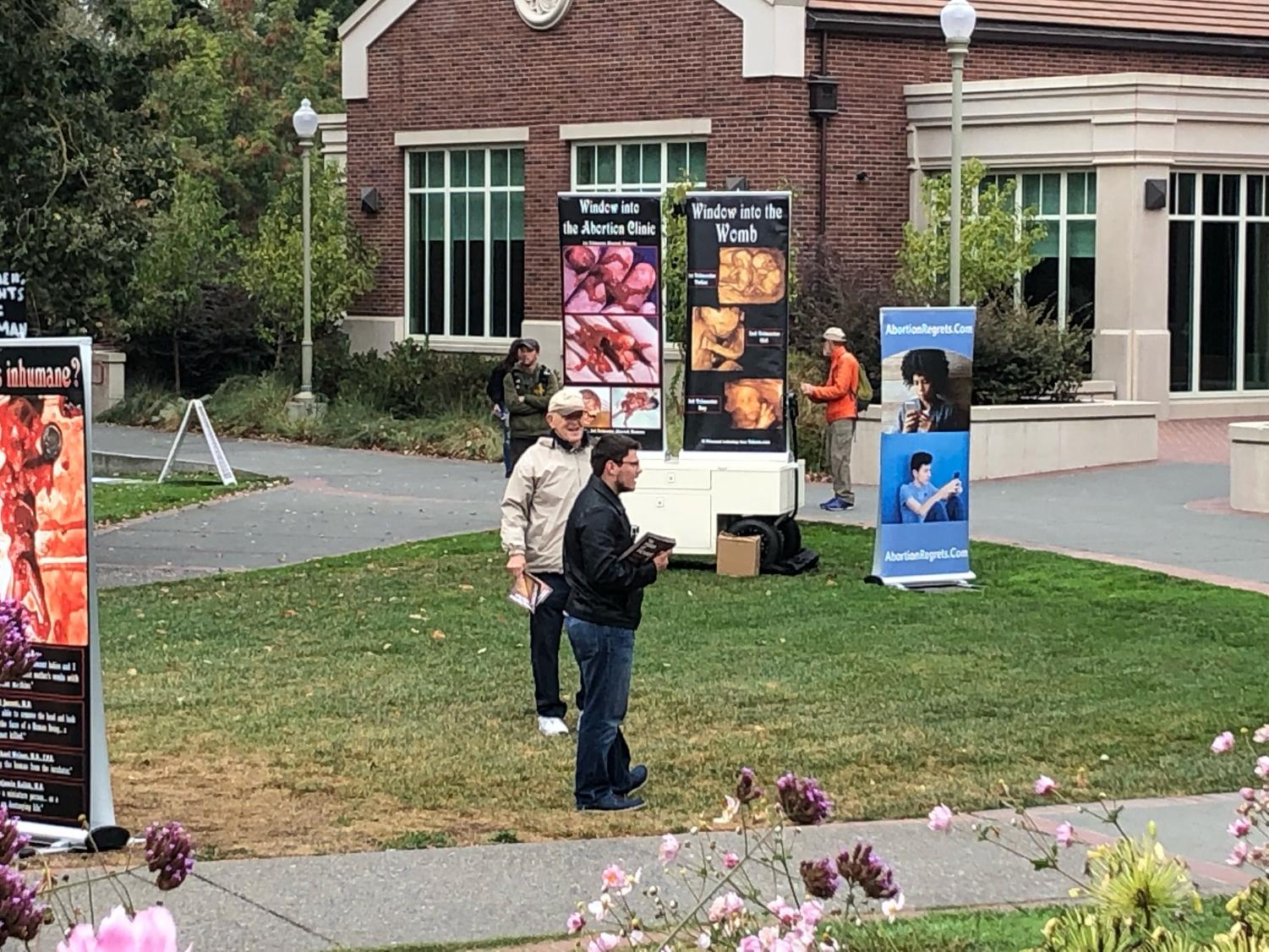 Project Truth causes much stir at SRJC in two short days. With these events, violence is always a concern.