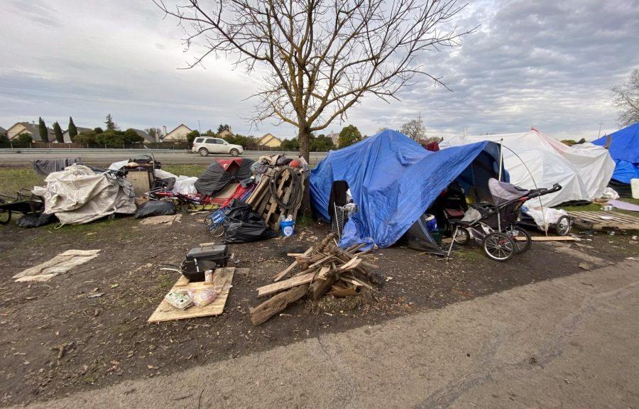 An encampment on Sonoma Countys Joe Rodota Trail off Highway 12 in Santa Rosa.