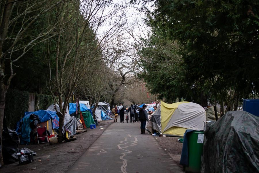 The Joe Rodota Trail homeless encampment is unofficial home to over 200 people.