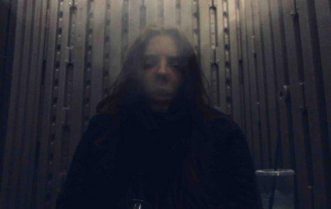 Hidden behind a cloud of smoke during quarantine