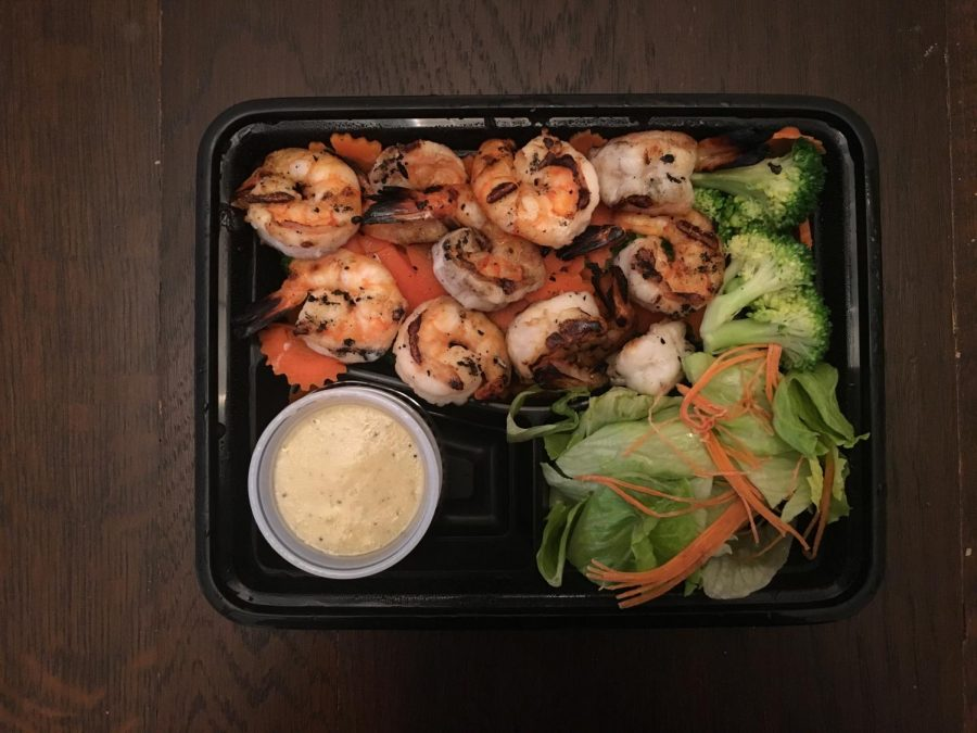 The barbecue shrimp from Lemongrass Thai in Petaluma.