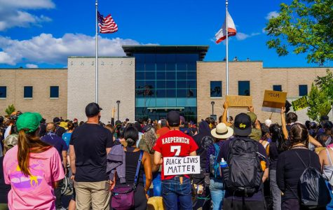 Students, faculty and citizens gather outside the Sonoma County Sheriff's Office June 6, just a week after the killing of George Floyd.