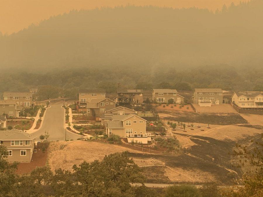 Smoke and haze over Skyhawk.