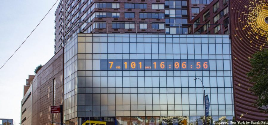 A countdown-to-climate change clock in New York's Time Square says Americans have seven years until damage from climate change becomes irreversible.