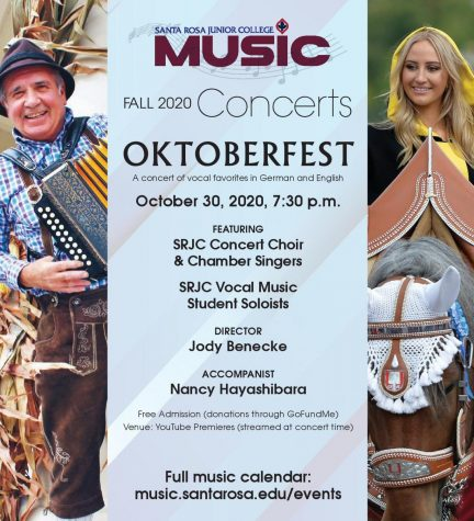 SRJC music department will host digital Octoberfest