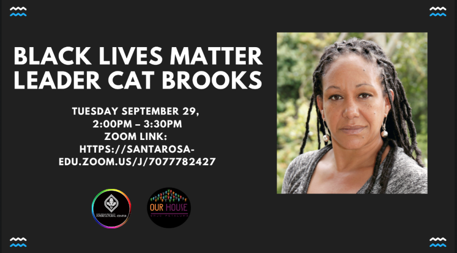 "Cat Brooks, leader of Black Lives Matter and self-described ""radical activist"" with a national profile, spoke to more than 100 Santa Rosa Junior College students Nov. 2 about defunding the police and her history fighting racial injustice."
