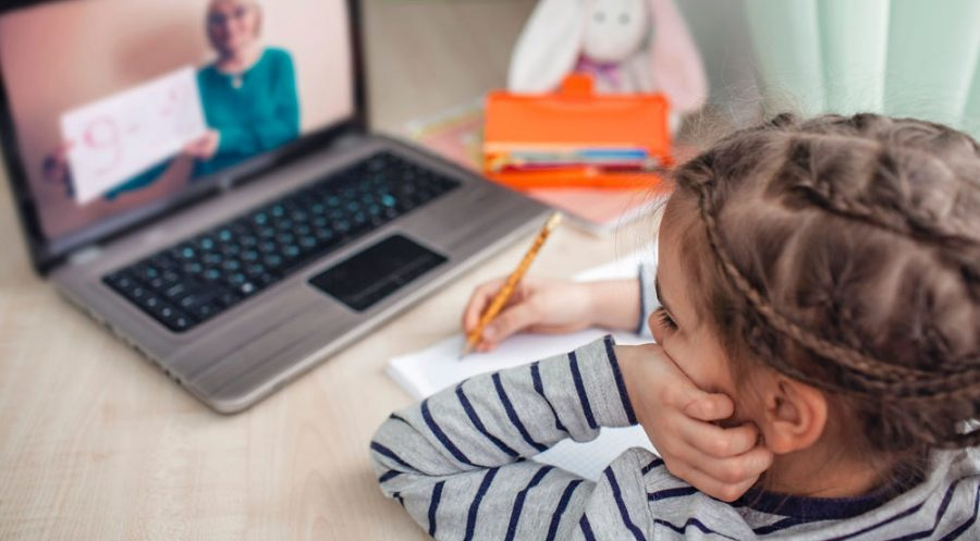 Elementary school students are struggling to stay engaged in online Zoom classes.