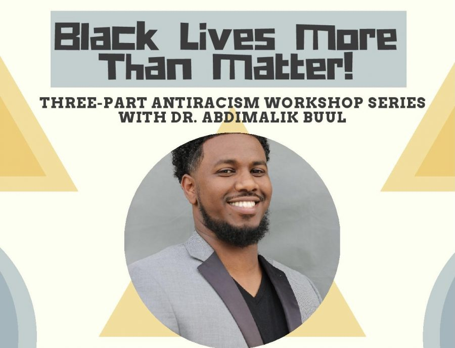 Dr. Abdimalik Buul spoke Feb. 5 over Zoom about the types of racism, how to be an agent of change and how racism affects us all.