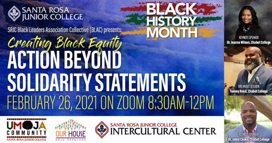 As+part+of+Black+History+Month%2C+SRJC+BLAC+will+present+%22Creating+Black+Equity%2C%22+an+event+focused+on+combating+institutional+racism.