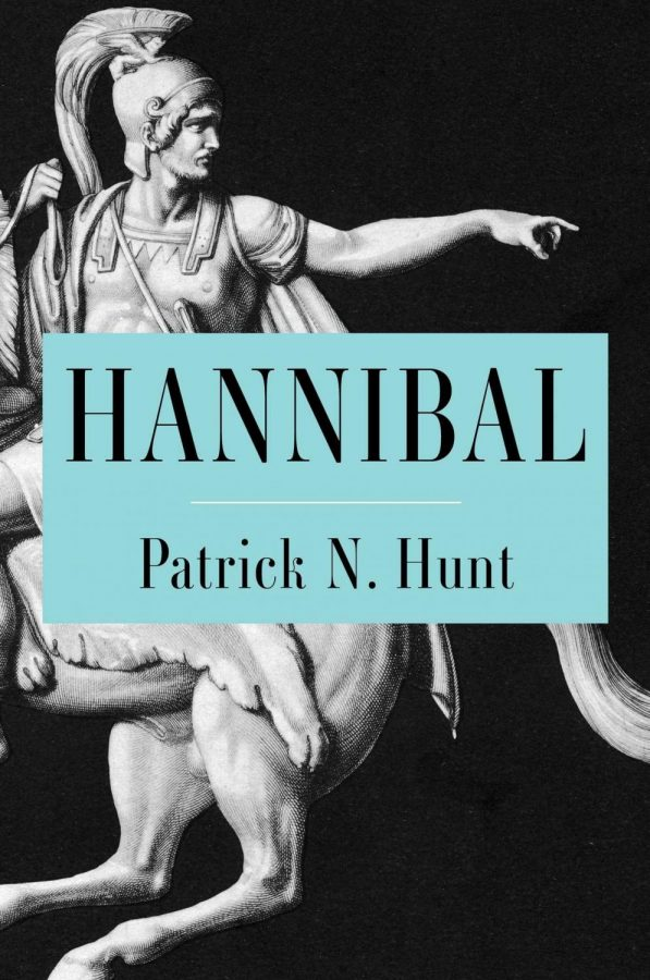 The+cover+of+a+biography+of+Hannibal%2C+one+of+the+most+feared+and+cunning+army+generals+of+his+time%2C+written+by+Dr.+Patrick+Hunt.