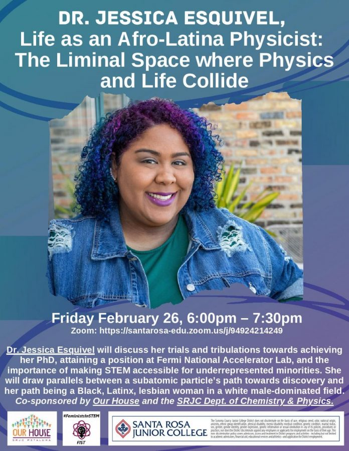 A flyer for the event featuring Dr. Jessica Esquivel