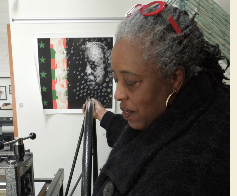 Multimedia artist Mildred Howard spoke with SRJC students about art as cultural celebration, highlighting the importance of creativity and individual expression.