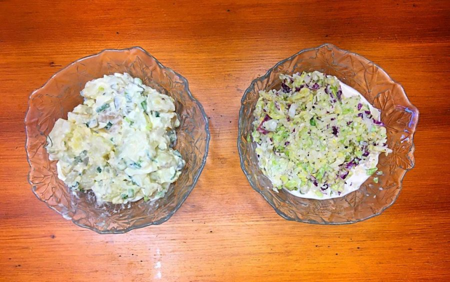 Two bowls of the coleslaw offered at Grossman's Noshery & Bar.