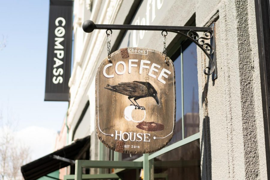 Crook's Coffee has a very Poe-esque vibe to their cafe- and their coffee.