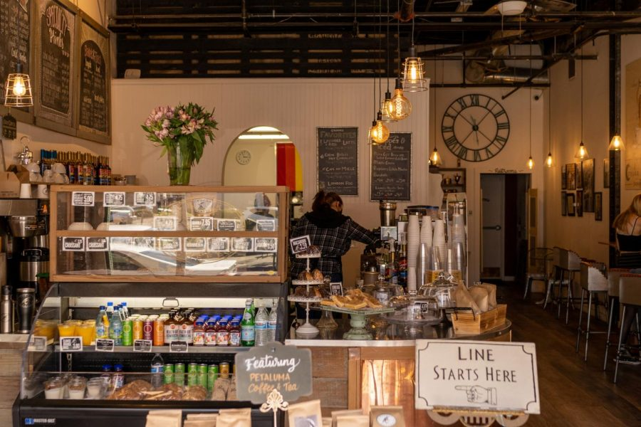 Crooks features an excellent selection of bottled drinks, homemade food and pastries, and snacks.