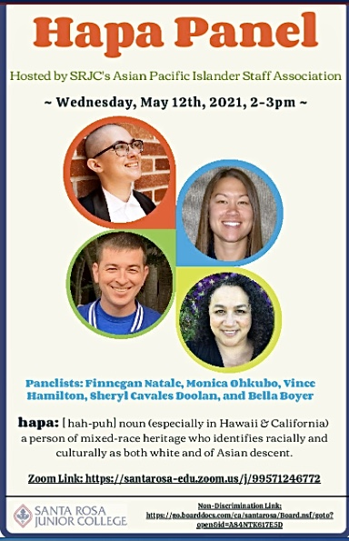 SRJC Asian Pacific Islander Staff Association hosts panel for hapa students and faculty