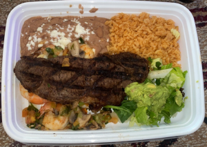 A dish from the Mexican restaurant Mi Ranchito.